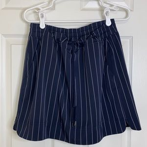 Athleta Skort - Navy Blue w White Pinstripe Golf